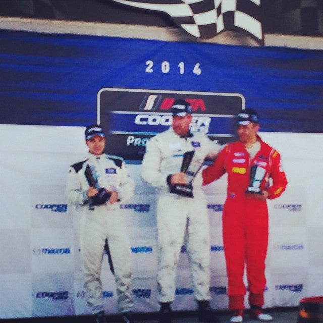 Third place and lap record for #ansamotorsports #momo ludovico Manfredi for Imsa Lites at the Glen in race 2