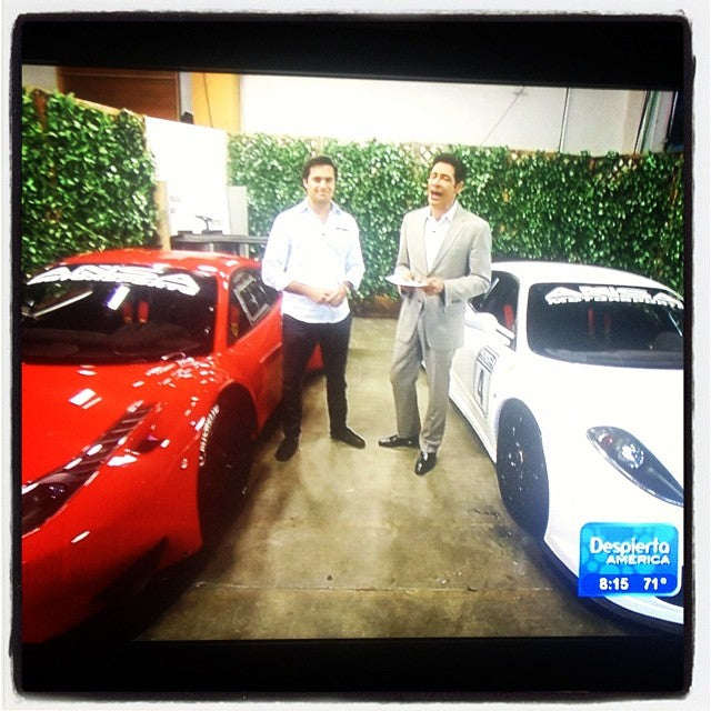 #ansamotorsports race cars on #univision this morning with #nelsonpiquetjr