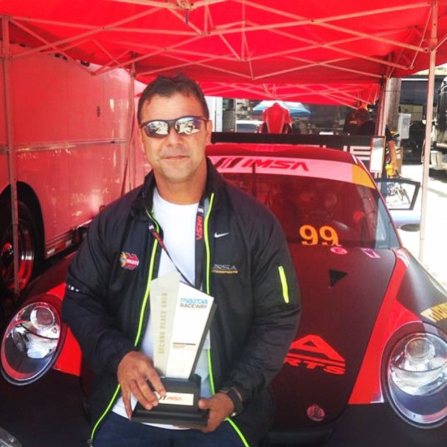 2nd Place In The porsche Cup at Laguna Seca for Patrick and #ansamotorsports