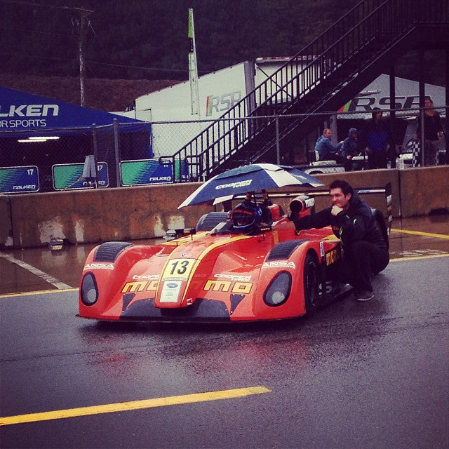 Rainy start to first race for #ansamotorsports #momo and ludovico Manfredi in Petit Le Mans Road Atlanta