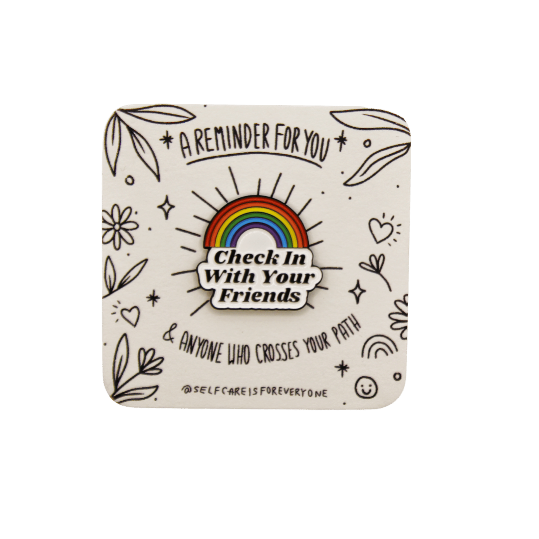 Check In With Your Friends (Rainbow) -- Soft Enamel Pin