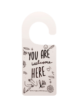 Load image into Gallery viewer, Self-Care In Progress / You Are Welcome Here -- Door Hanger