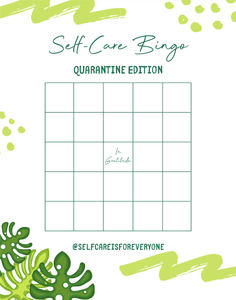 'Self-Care Bingo' Sheets (Blank + With Self-Care Ideas) - Self-Care Is For Everyone