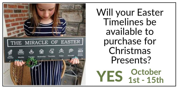 Easter Timelines for Christmas