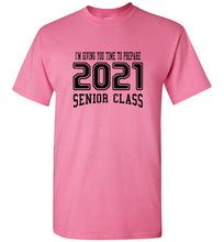 Senior Class of 2021 Sophomore T-shirt (6 Color Choices)