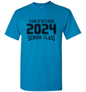 Senior Class of 2024 7th Grade T-shirt (6 Color Choices)