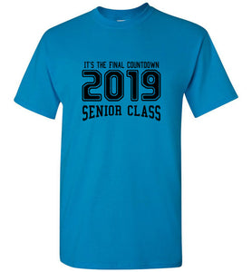 Senior Class of 2019 SR T-shirt (6 Color Choices)