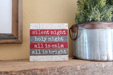 Silent Night - Holy Night Wooden Box Sign