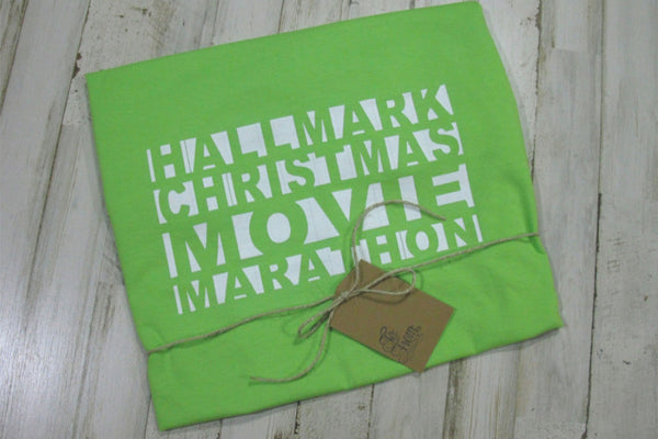 Christmas Movie Marathon Marquee Sign T-Shirt