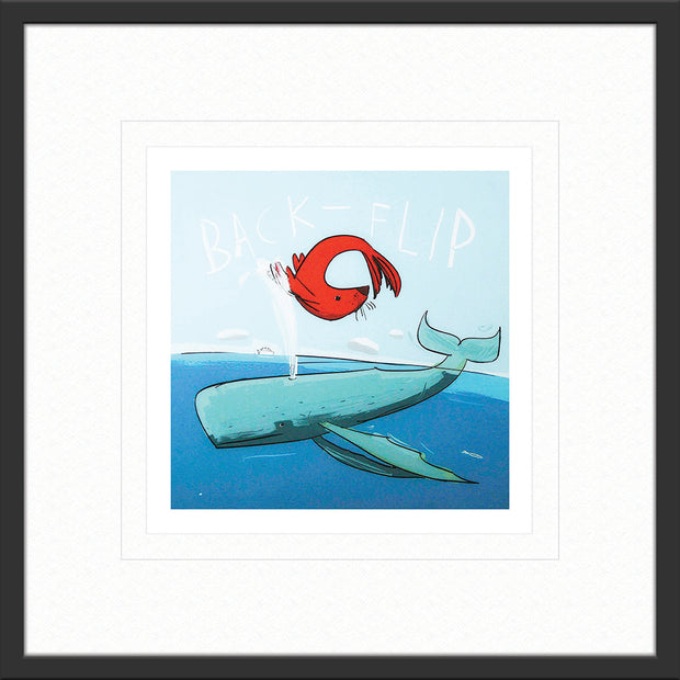 Back Flip by David Kuijers limited edition print art in grey frame
