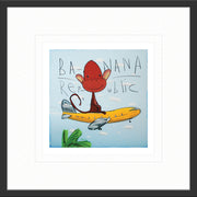 Banana Republic by David Kuijers Limited Edition Print Art with Grey Frame