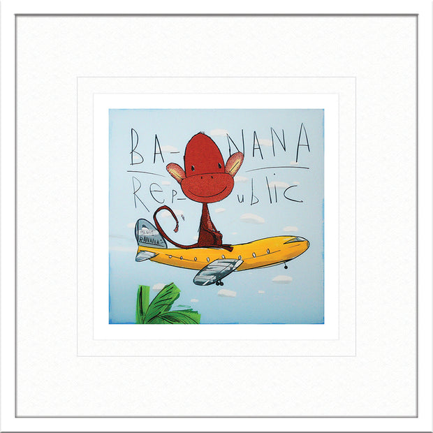 Banana Republic by David Kuijers Limited Edition Print Art with White Frame