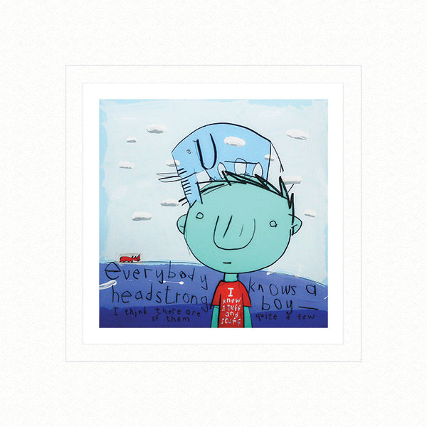 David Kuijers :Head Strong Boy (Limited Edition Print)