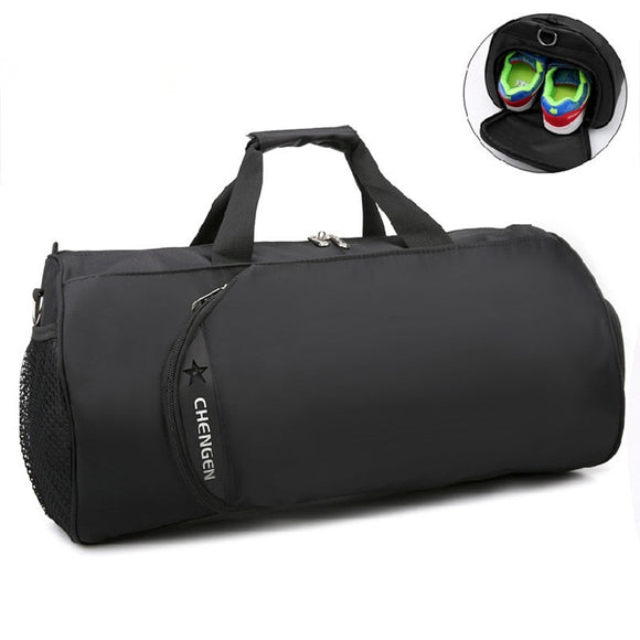 c5a868e281 2018 New Waterproof Gym Bag Fitness Training Sports Bag Portable Shoulder Travel  Bag Independent Shoes Storage
