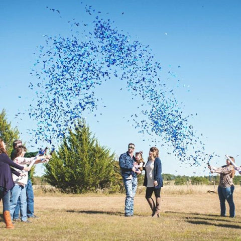 Blue Gender Reveal Confetti Cannon