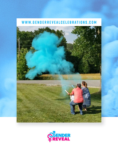 Powder Cannons For Gender Reveal