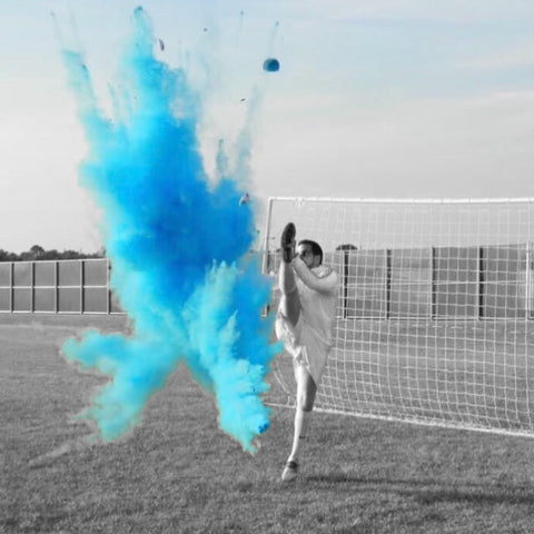 Blue Gender Reveal Soccer Ball