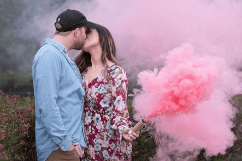 Gender Reveal Party Smoke Bombs