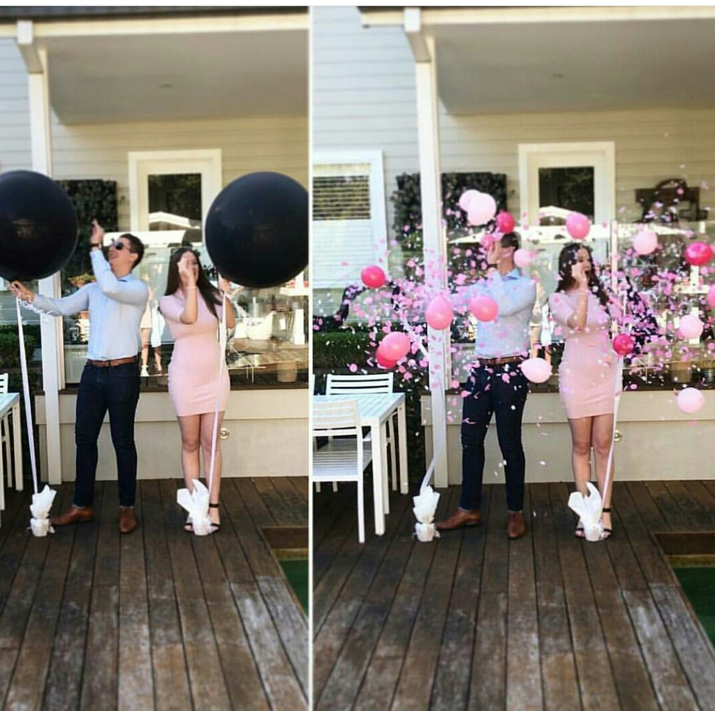 Gender Reveal Balloon Pop Pictures