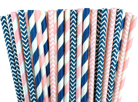 Gender Reveal Party Decoration Straws