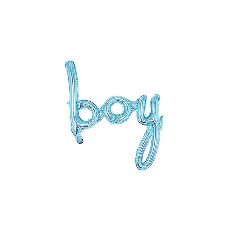 Cursive Boy Balloon