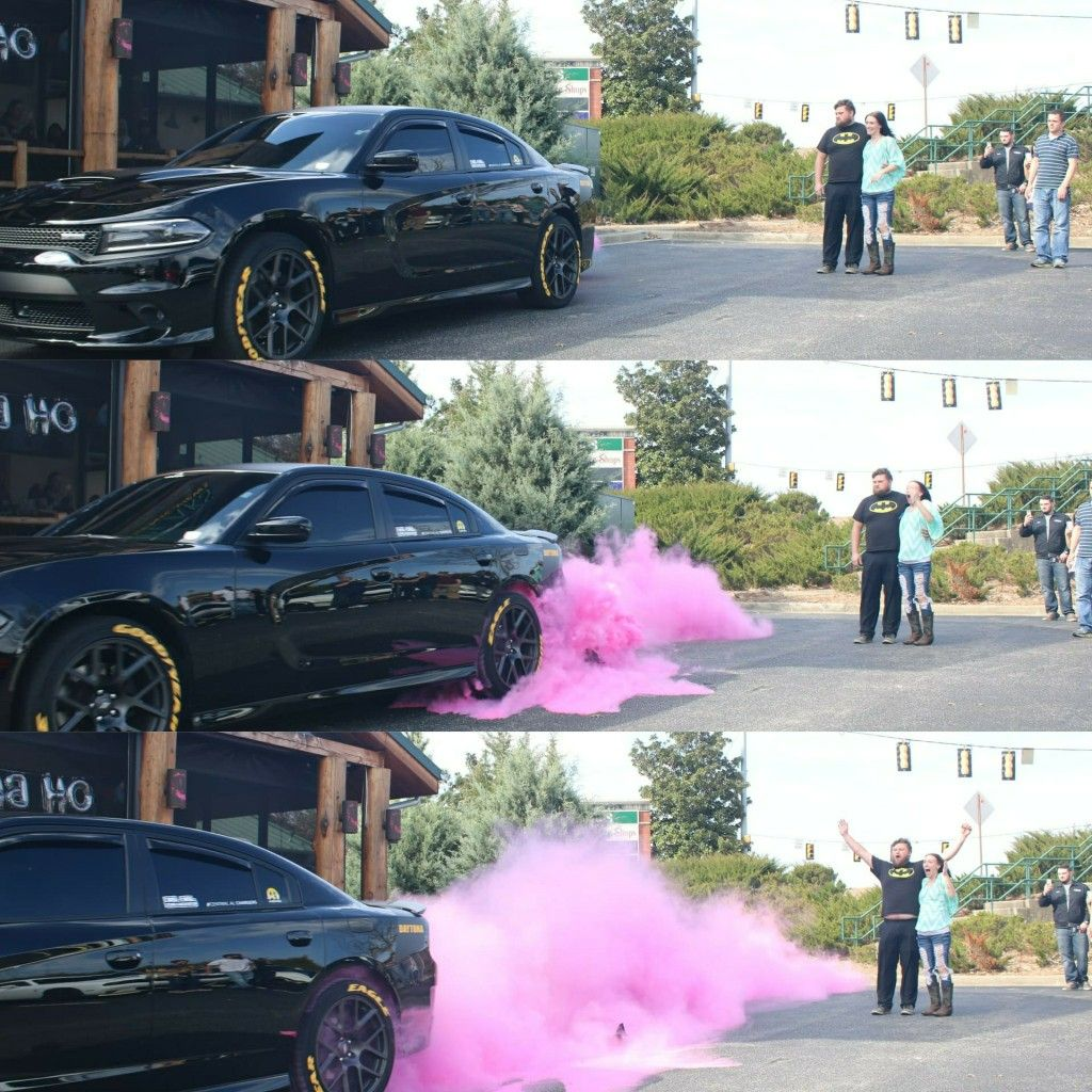 Gender Reveal Burnout Tires