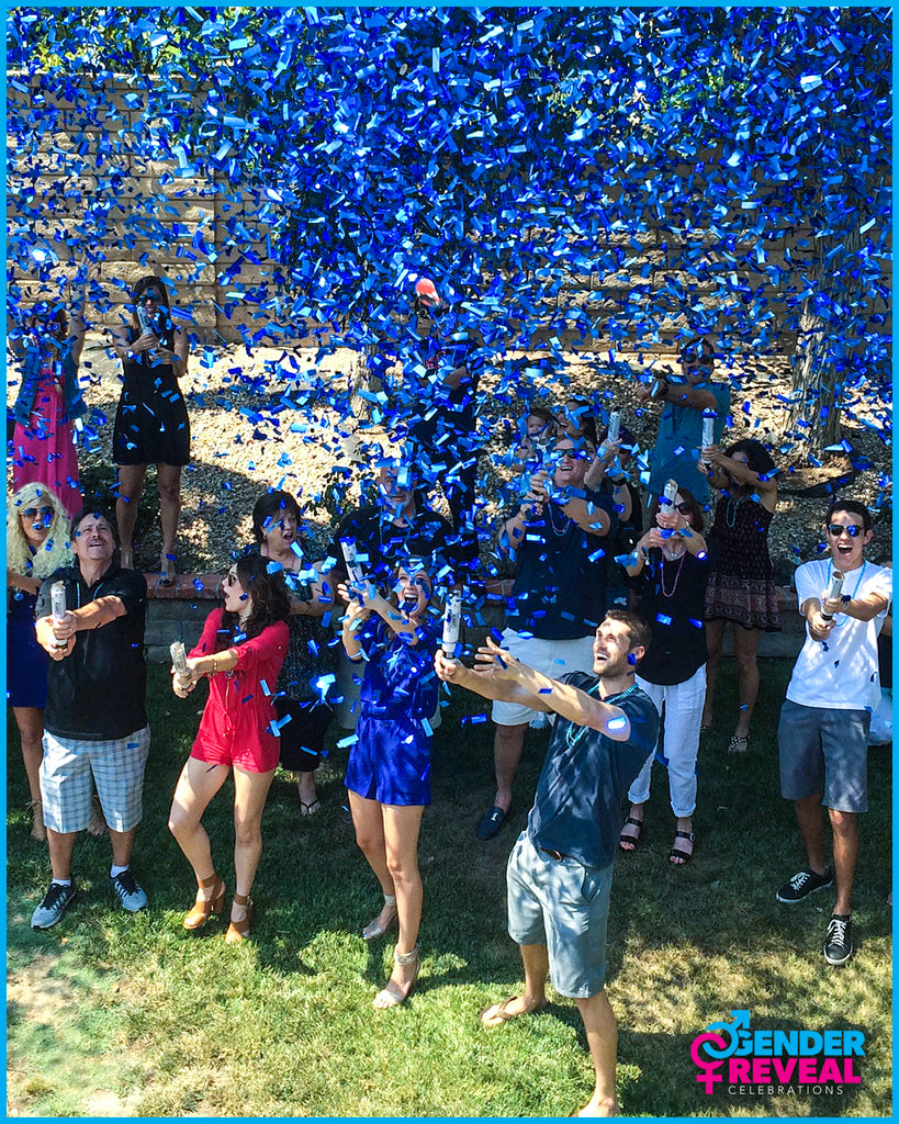 Blue Gender Reveal Confetti Cannons