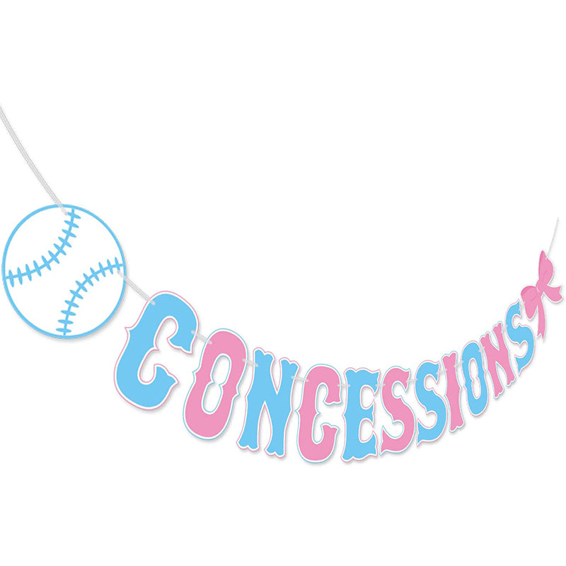 Gender Reveal Concessions Banner