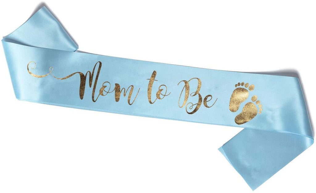 Blue Mom To Be Sash