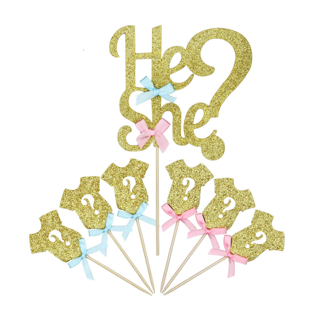 He or She Cake Toppers