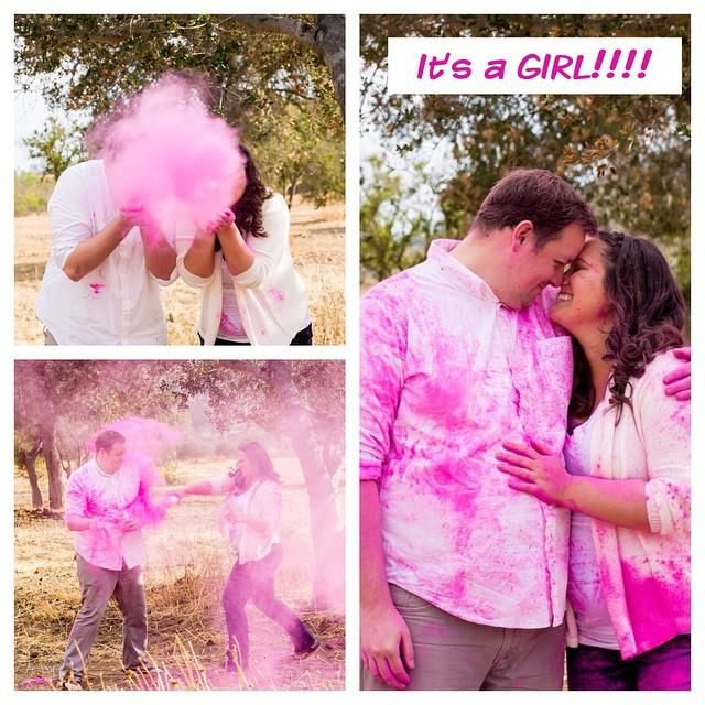 Pink Powder For Gender Reveal