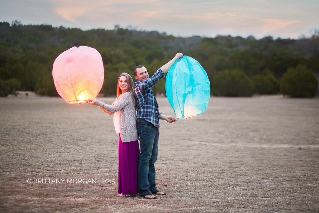 Gender Reveal Sky Lanterns