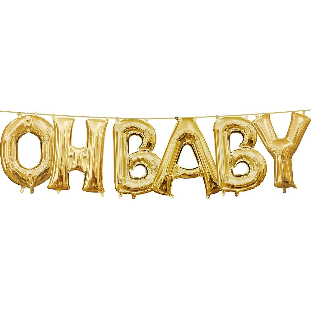 Oh Baby Gold Balloons