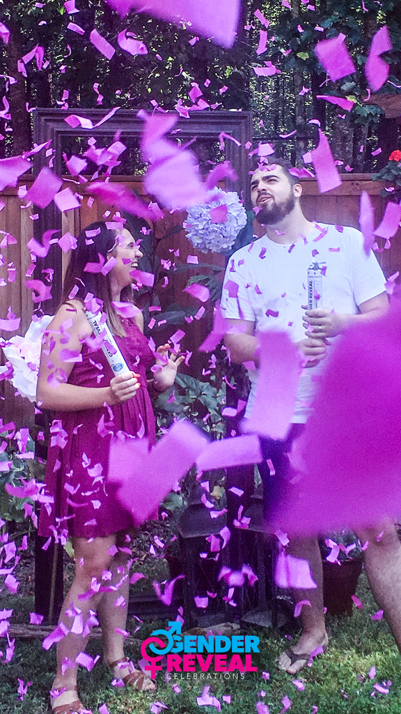 Pink Gender Reveal Confetti Cannons