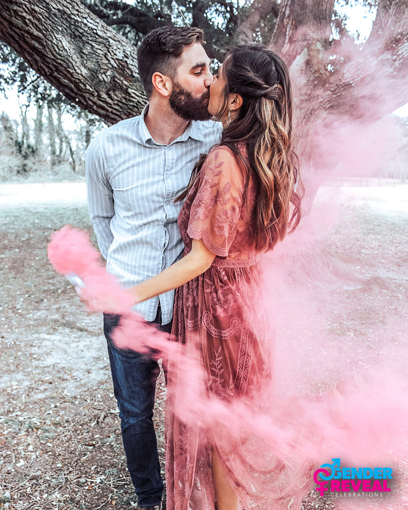 Pink Smoke Bomb Gender Reveal