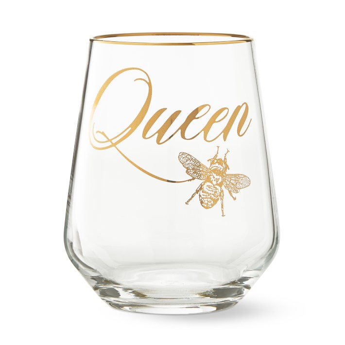 Queen of Everything Wine Glass