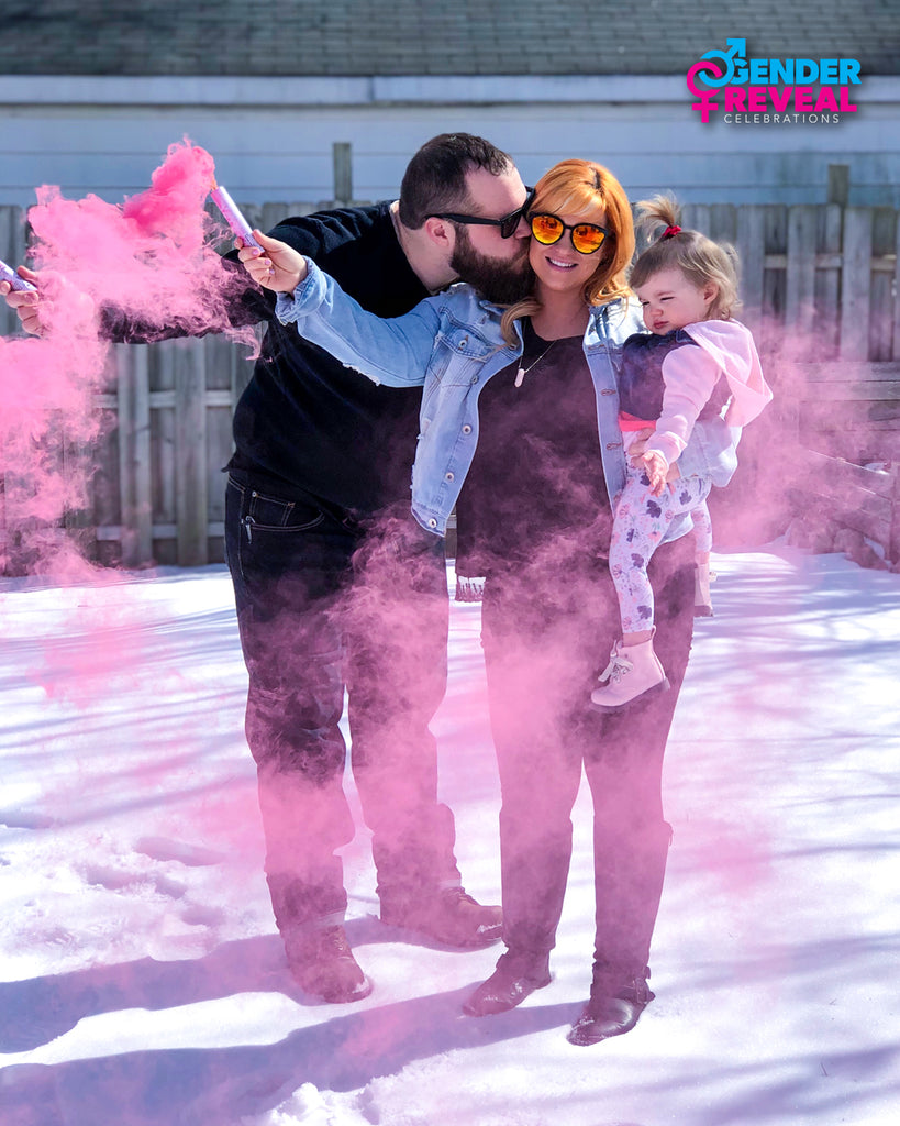 Pink and Blue Smoke Bombs