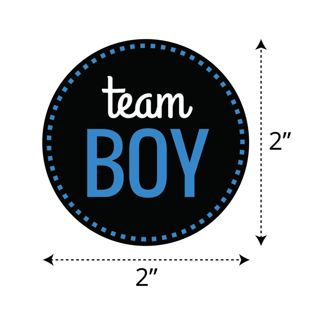 Gender Reveal Team Boy Team Girl Stickers