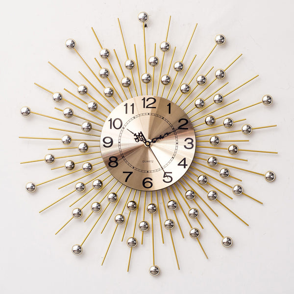 QUKAU wall Clocks metal diameter 60CM Clocks golden silent clock