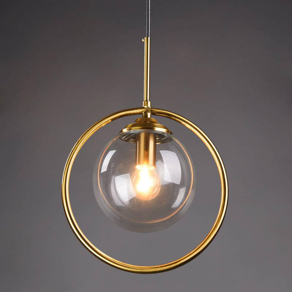 QUKAU glass pendant lamp diameter 25CM E14 bulb bedside chandelier glass chandelier