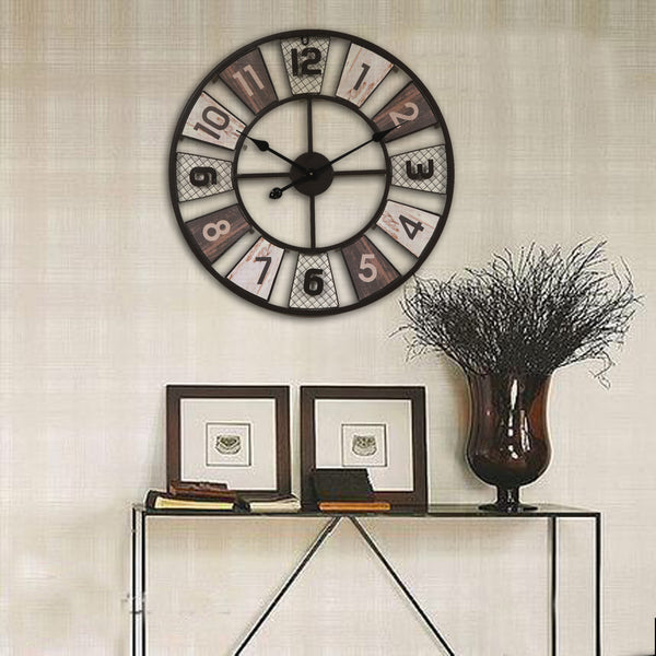 QUKAU wall clock diameter 60CM clock silent wall clock fashion clock home