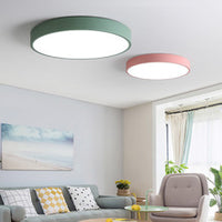 QUKAU LED ceiling light diameter 40CM 24W 3 colors dimmable wall control round bedroom ceiling lamp living room restaurant aisle balcony lamps