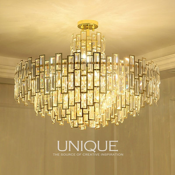 QUKAU iron crystal chandelier modern bedroom lamp pendant lamp luxury art lighting