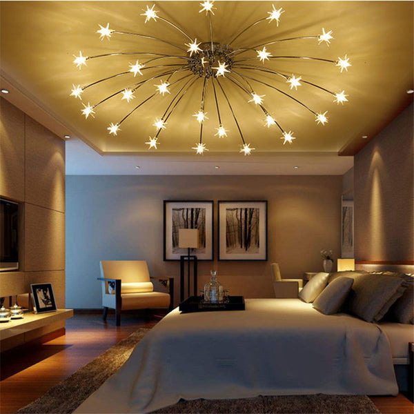 QUKAU Star Roof Lighting ceiling lamp Lighting Restaurant Bedroom Fashion LED Roof Lighting