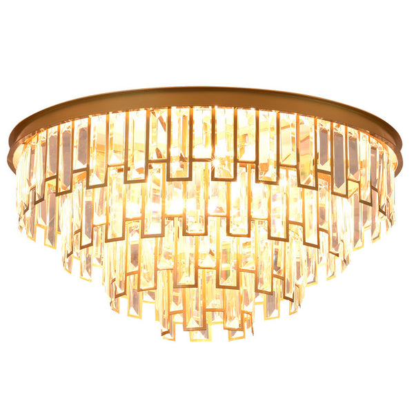 QUKAU Nordic crystal chandelier restaurant E14 bulb pendant lighting pendant lamp ceiling lamp Nordic chandelier decorative chandelier living room chandelier new postmodern chandelier