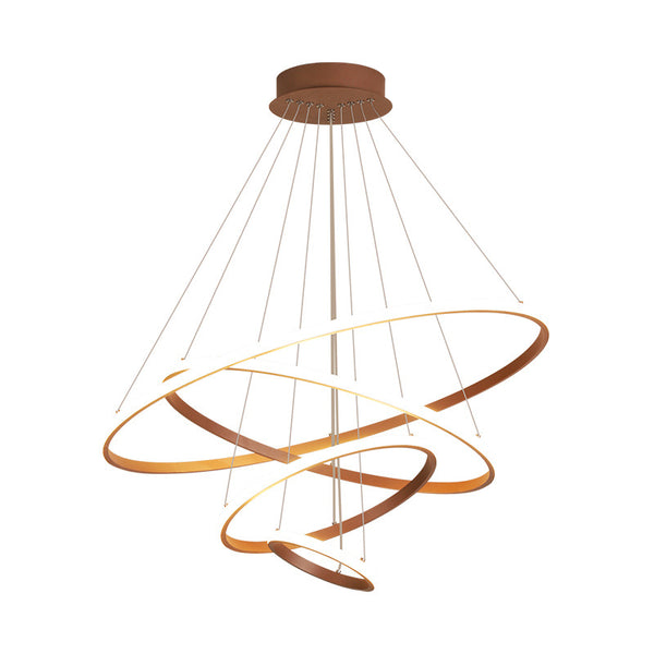 QUKAU led chandeliers ring Nordic  pendant lamp creative fashion restaurant bedroom lamps