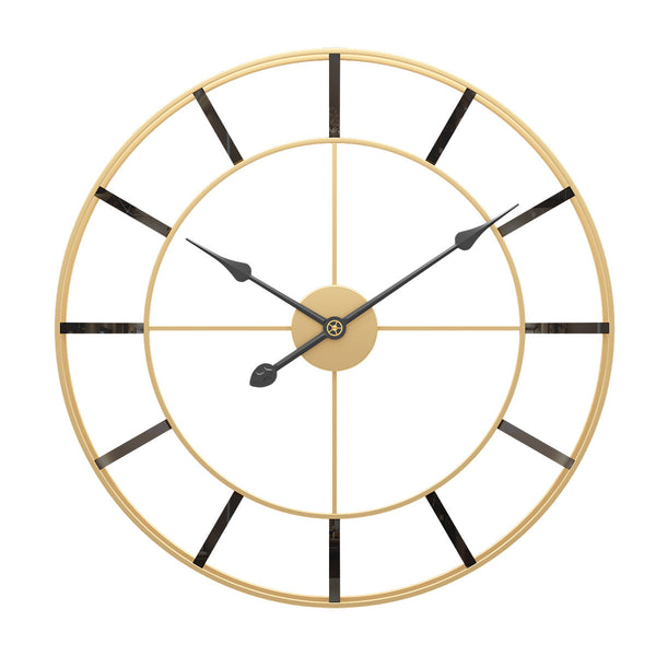QUKAU Light luxury modern minimalist iron wall clock mute living room clock decoration clock