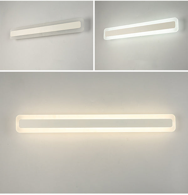 QUKAU bathroom lighting 60CM length 23W 3 colors waterproof fog-proof bathroom mirror lamp