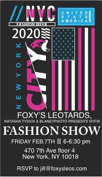 Foxy's Leotards takes the runway at New York Fashion Week