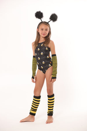 bee leotards for girls gymnastics